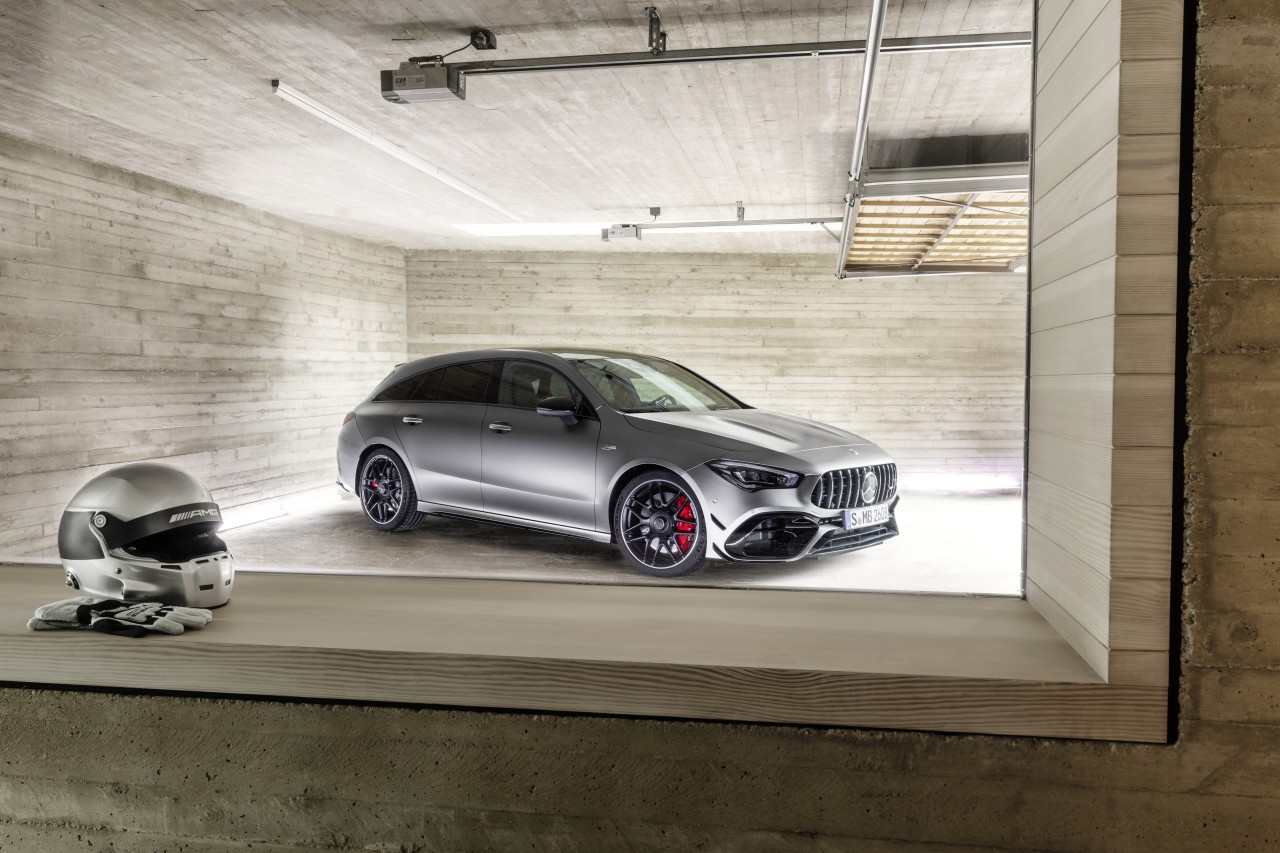 Der neue Mercedes-AMG CLA 45 4MATIC+ Shooting BrakeThe new Mercedes-AMG CLA 45 4MATIC+ Shooting Brake