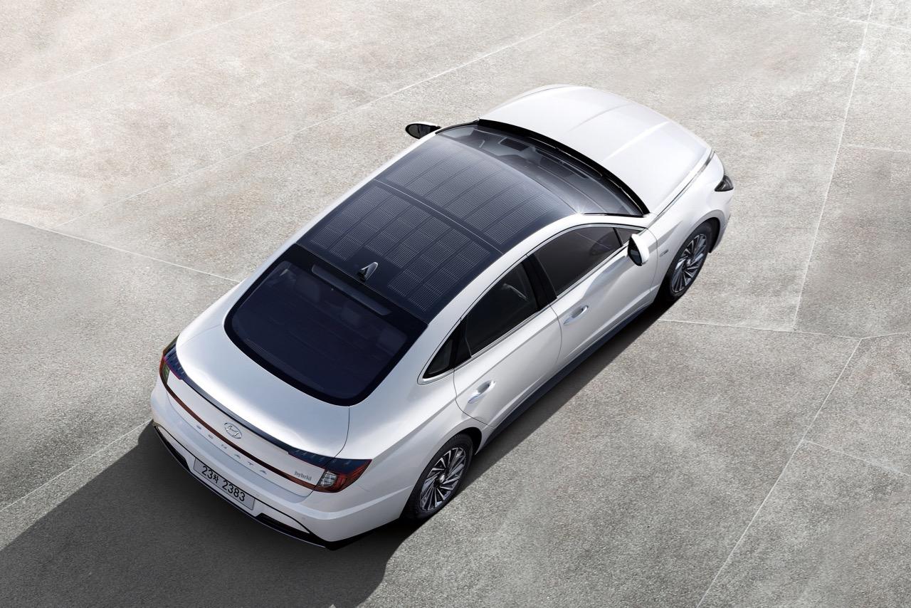 techo carga solar Hyundai Sonata Hybrid – 1