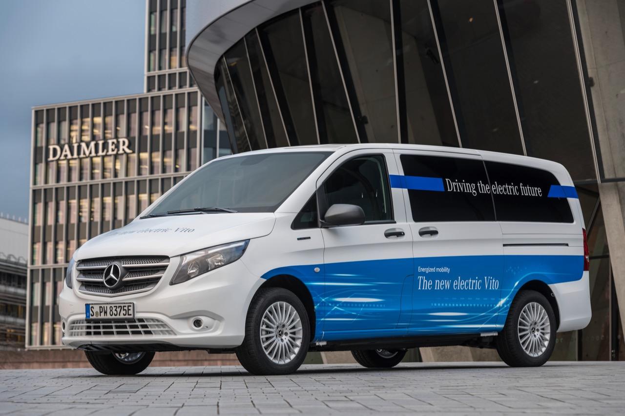 Mercedes-Benz eVito mit vollelektrischem AntriebMercedes-Benz eVito with all-electric drive