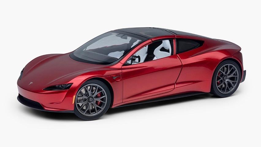 Tesla Roadster maqueta escala – 1