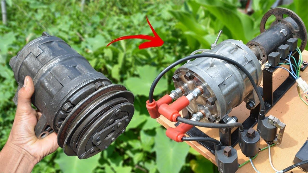 Compresor Aire Acondicionado Motor de Combustion Interna