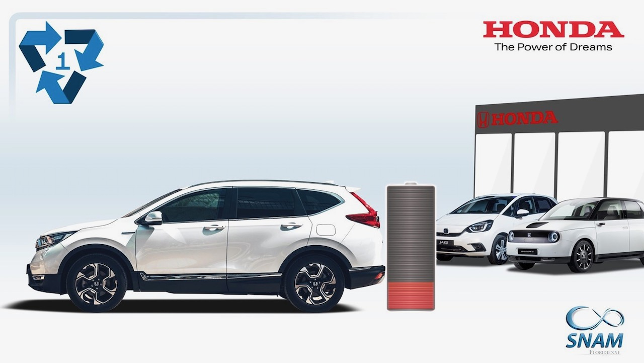 Honda Hybrid & EV Batteries recycling