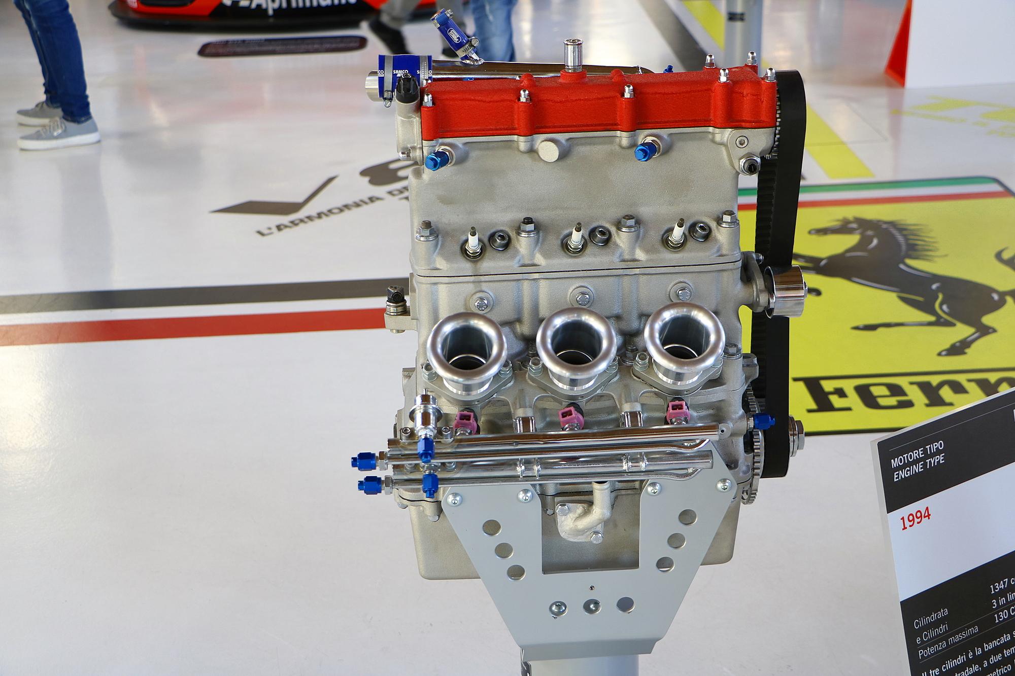 Ferrari F134 – Motor 3 cilindros