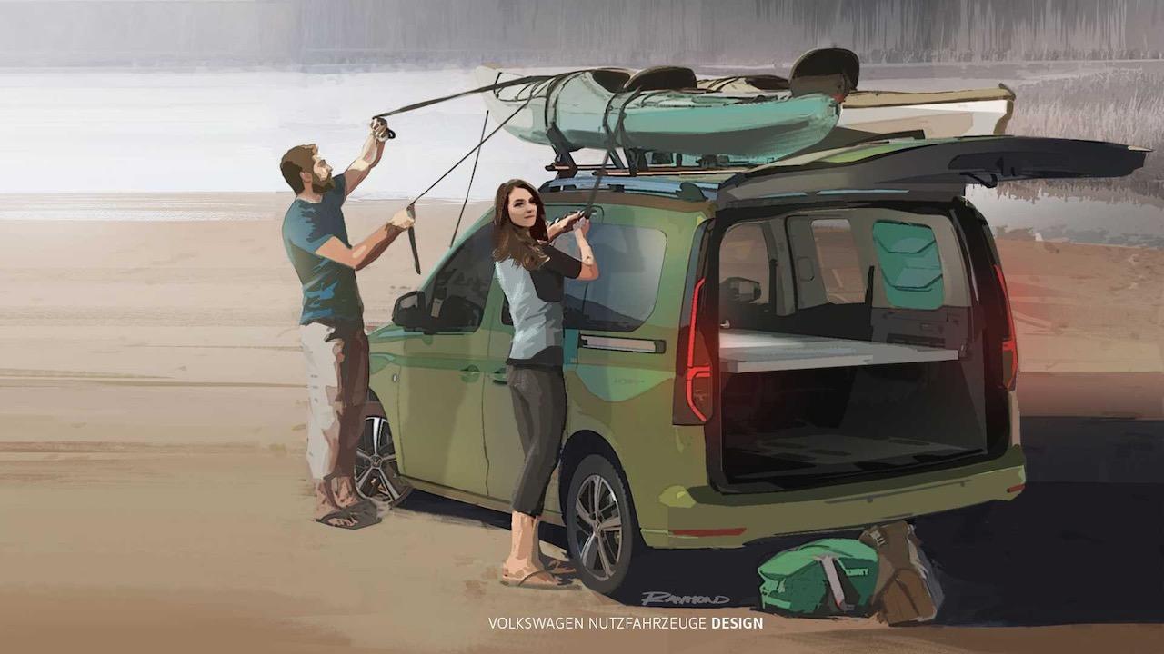 Volkswagen Caddy Beach bocetos – 2