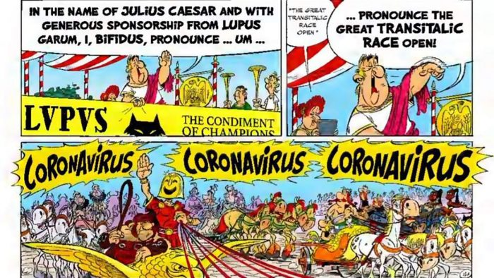 Astérix y Ferrari - coronavirus 2