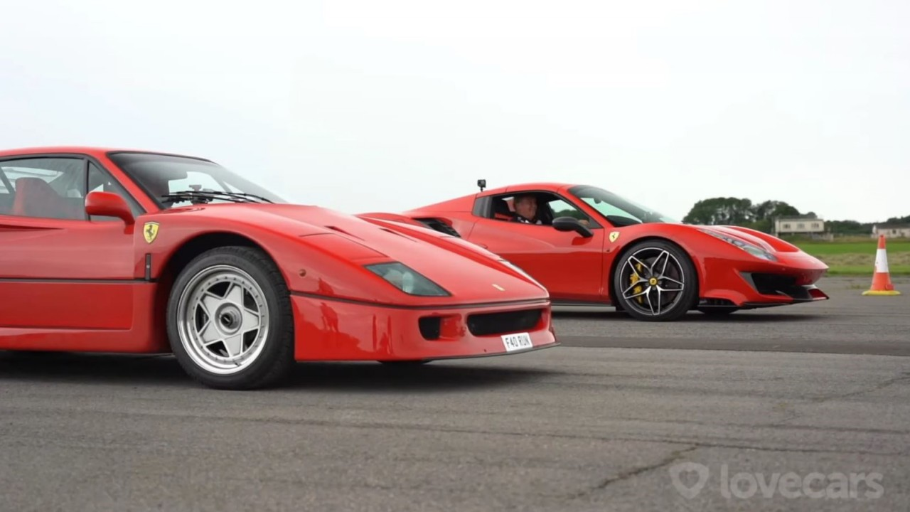 Ferrari F40 vs. Ferrari 488 Pista – Tiff Needell (2)