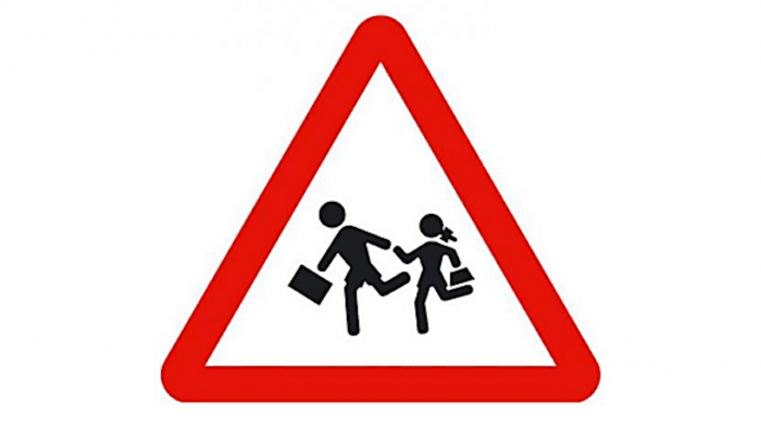Señal de tráfico machista