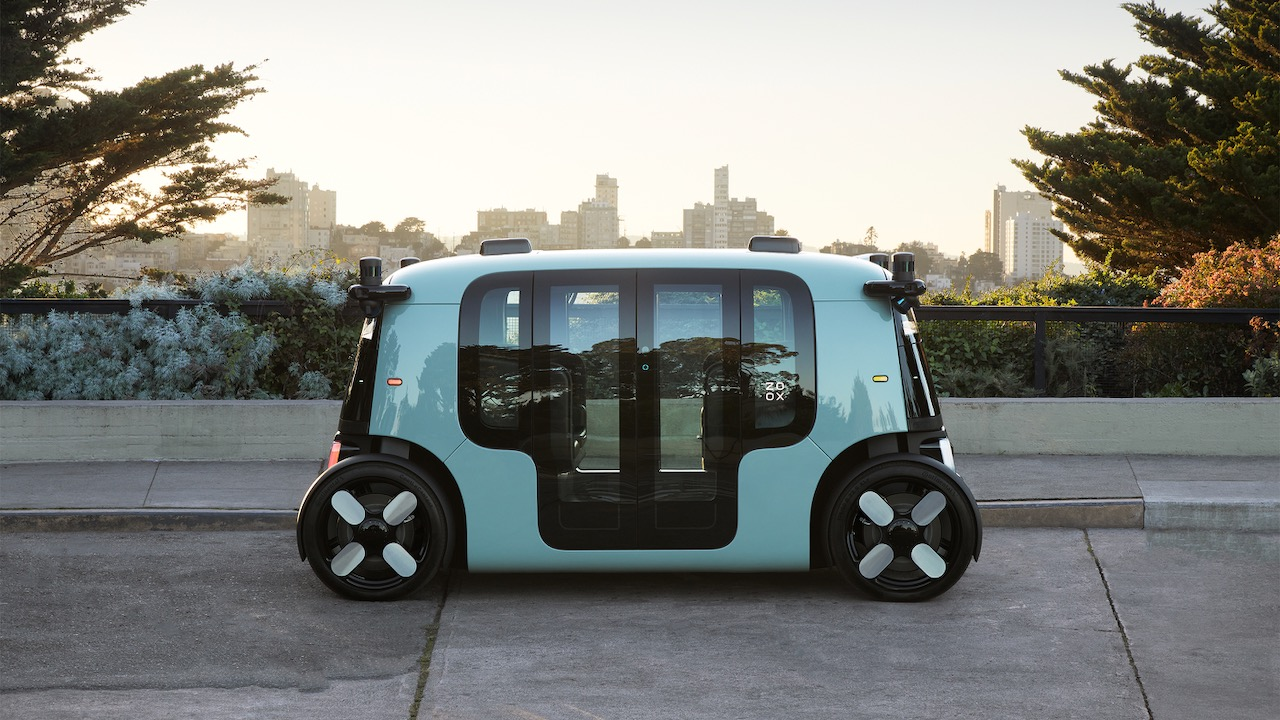 Zoox Fully Autonomous Vehicle at Coit Tower San Francsico