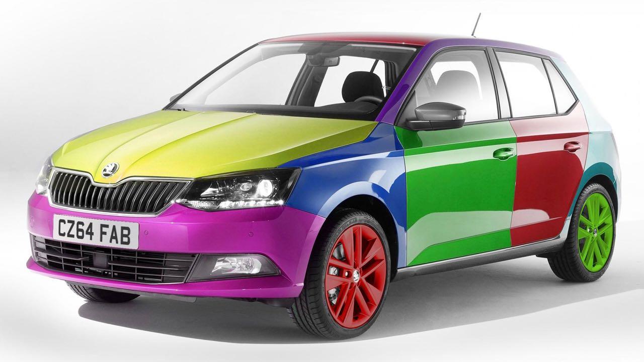 coche colores Skoda Fabia