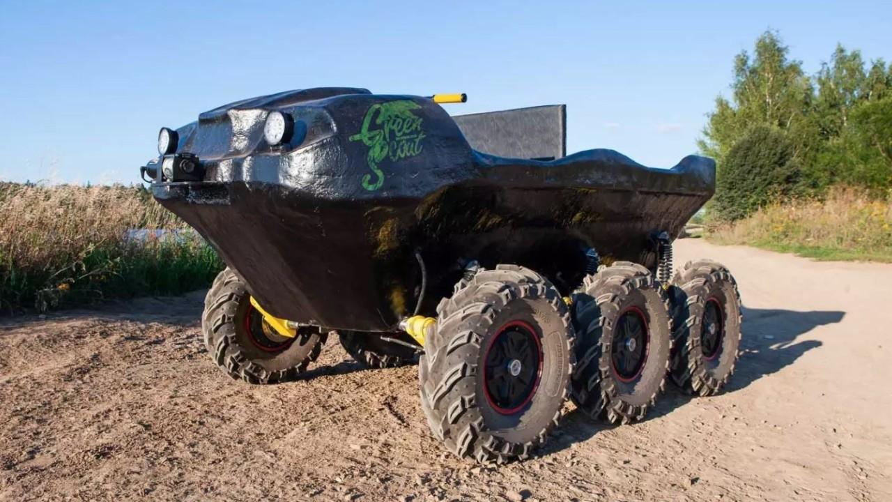 Green Scout ATV 6×6 anfibio eléctrico (2)