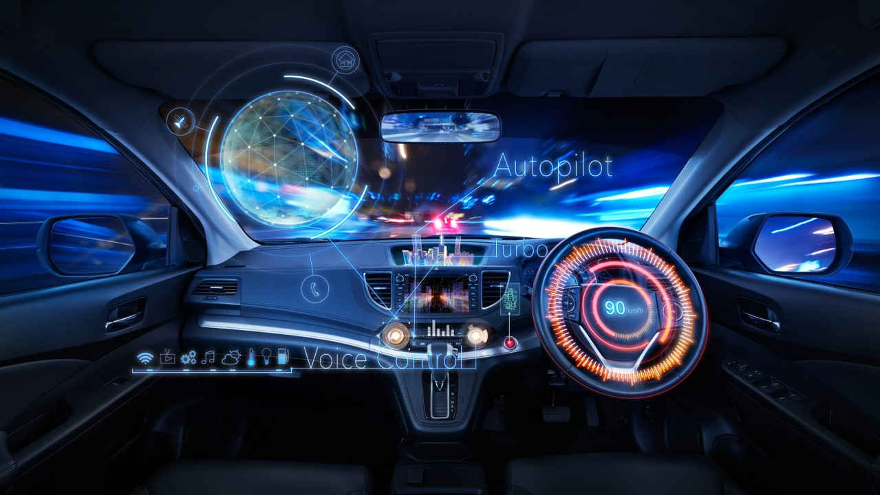Car interior with Self driving