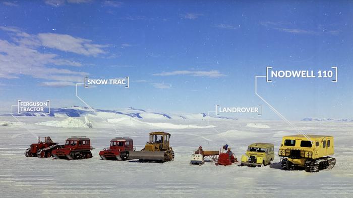 Vehículos utilizados en la Antártida