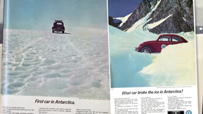 Publicidad Volkswagen Beetle Antártida