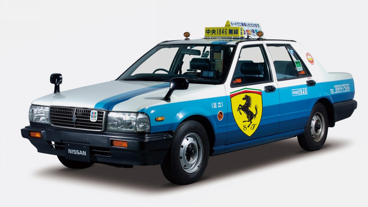 Nissan Cedric Taxi Ferrari Editada