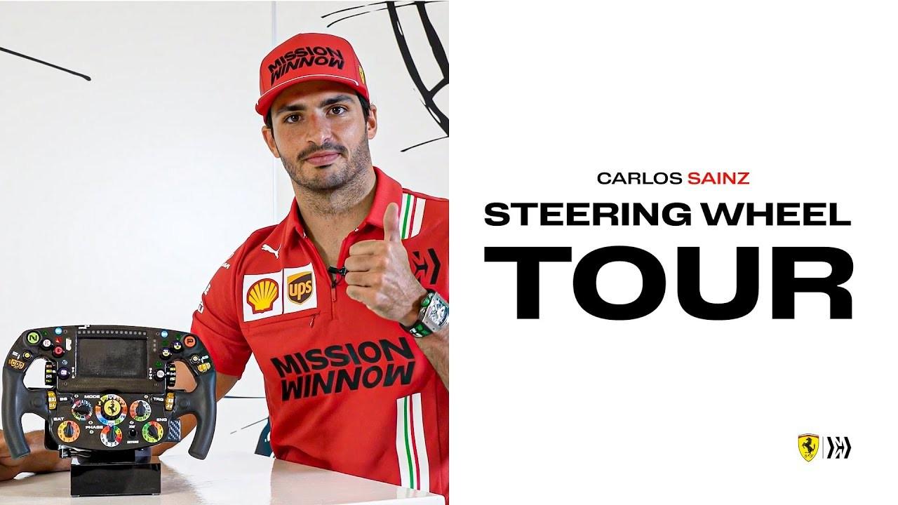 Carlos Sainz Volante Ferrari F1 (2)