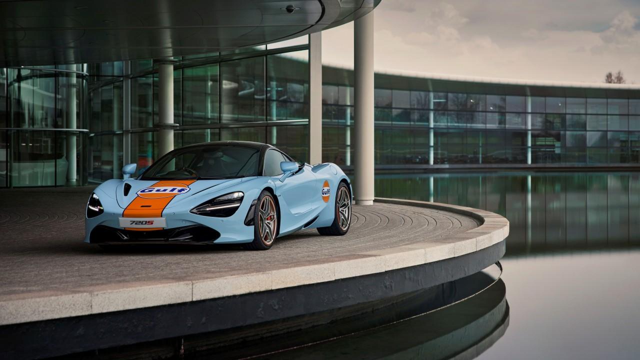 Gulf McLaren 720S photographed at McLaren Technology Centre- Woking UK – March 2021