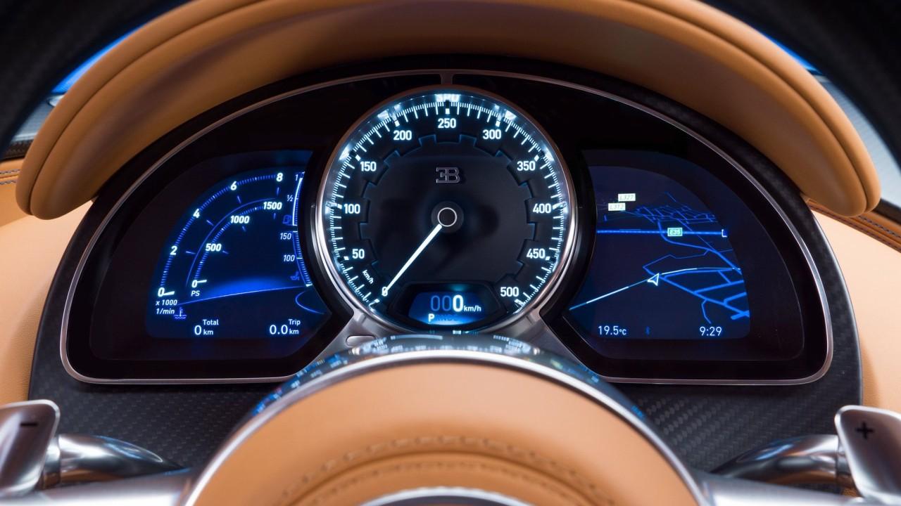 Velocimetro Bugatti Chiron 2