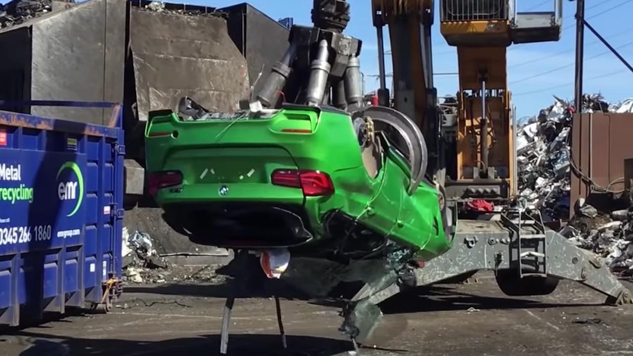 BMW M3 achatarrado – 1
