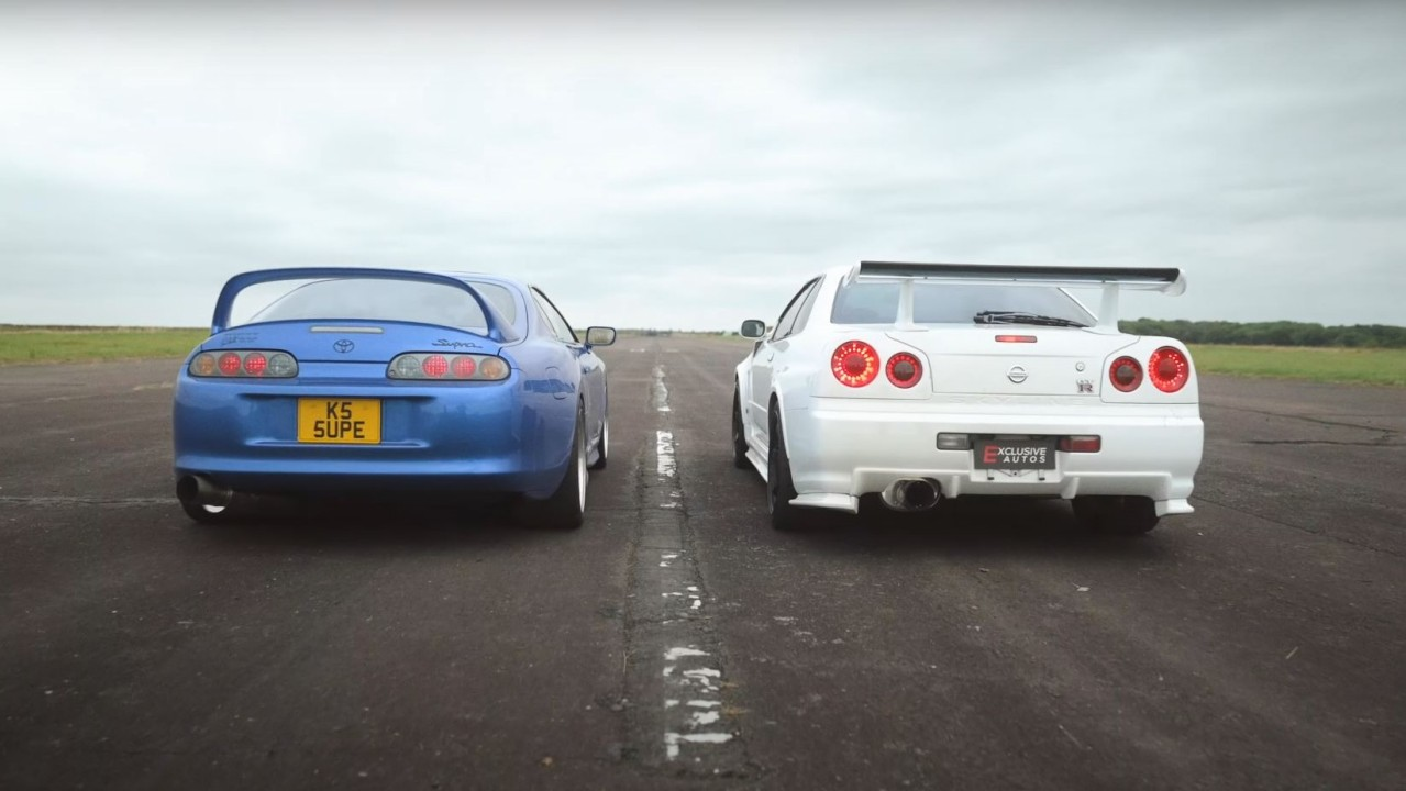 Toyota Supra A80 900 CV vs Nissan Skyline GT-R R34 800 CV (2)